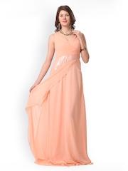 Eavan Peach-Coloured Maxi Dress