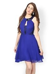 Eavan Royal Blue Fit & Flare Dress