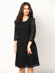 Eavan Black Lace Fit & Flare Dress