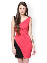 Eavan Pink & Black Bodycon Dress