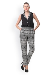 Eavan Women Black & White Printed Jumpsuit