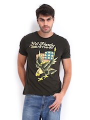 Ed Hardy Men Black Printed T-shirt