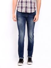 Ed Hardy Men Blue Slim Fit Jeans