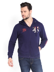 Ed Hardy Men Blue Sweatshirt