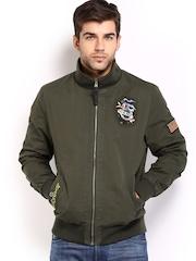 Ed Hardy Men Olive Green jacket