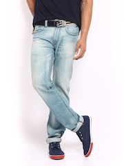 Ed Hardy Men Light Blue Regular Fit Jeans