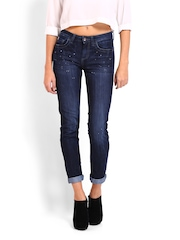 Ed Hardy Women Dark Blue Skinny Fit Jeans
