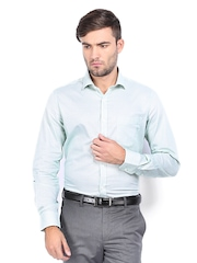 Elitus Men Green Checked Tailored Fit Formal Shirt