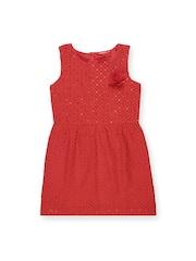 Elle Kids Girls Red Fit & Flare Dress