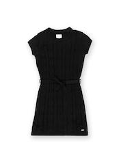 Elle Kids Girls Black Sweater Dress