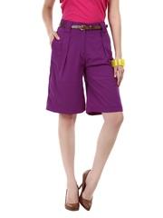Elle Women Purple Shorts
