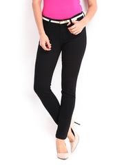 Elle Women Black Skinny Fit Jeans