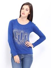Elle Women Blue Essential Top