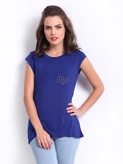 Elle Women Blue Essentials Top