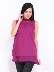 Elle Women Magenta Top
