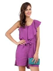 Elle Women Purple Playsuit