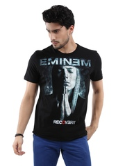 Eminem Men Black Printed T-shirt
