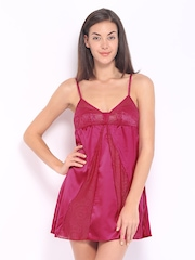 Enamor Pink Baby Doll Nightdress DN 17