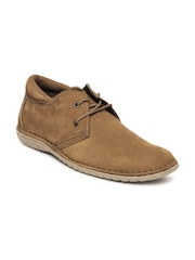 Men Brown Fergus Nubuck Leather Casual Shoes Engross