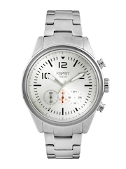 Esprit Men Silver Toned Dial Watch