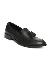 Estd. 1977 Men Black Leather Casual Shoes