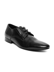 Estd. 1977 Men Black Leather Formal Shoes