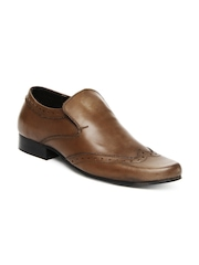 Estd. 1977 Men Brown Leather Semi-Formal Shoes