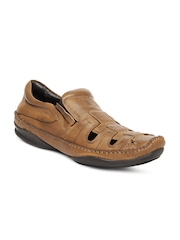 Estd. 1977 Men Brown Leather Casual Shoes
