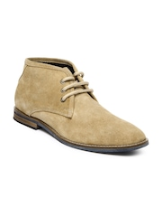 Estd. 1977 Men Camel Brown Suede Casual Shoes