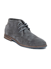 Estd. 1977 Men Grey Suede Casual Shoes