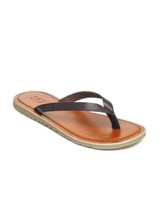 Estd. 1977 Men Coffee Brown Leather Sandals