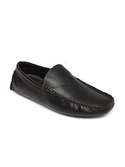 Estd. 1977 Men Dark Brown Leather Loafers