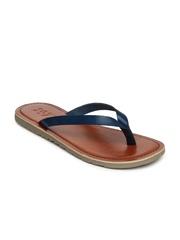 Estd. 1977 Men Navy Leather Sandals