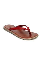 Estd. 1977 Men Red Leather Sandals