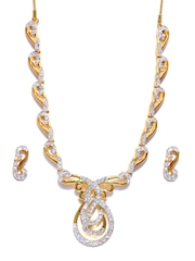 Estelle 24-carat Gold-Plated & CZ Studded Jewellery Set