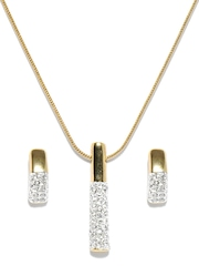 Estelle Gold Plated Earring & Pendant Set