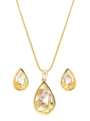 Estelle Gold Plated Earring and Pendant Set