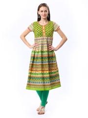 Ethnicity Women Multicoloured Printed Kurta