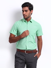 Excalibur Men Green Slim Fit Smart-Casual Shirt