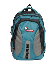 F Gear Unisex Black & Blue Cannon Laptop Backpack