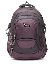 F Gear Unisex Purple & Grey Storm Backpack