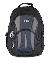 F Gear Unisex Black & Blue Eric Backpack