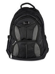 F Gear Unisex Black & Grey Louis Backpack