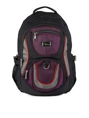 F Gear Unisex Black & Purple Tyson Backpack