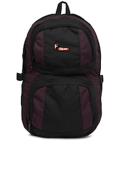 F Gear Unisex Black & Burgundy Oreo Backpack