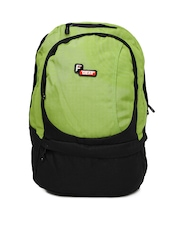 F Gear Unisex Black & Green Backpack