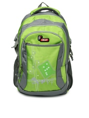 F Gear Unisex Green & Grey Flamingo Backpack