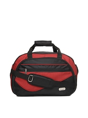 F Gear Unisex Red & Black Duffle Bag