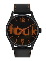 FCUK Men Black Dial Watch