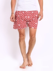 FCUK Men Red Printed Boxers TGBCQ